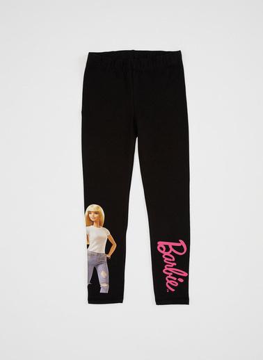 DeFacto Kız Çocuk Barbie Lisanslı Tayt Siyah